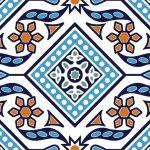 (Hala Ajrak-002 SP) (Blue White) (Glossy)