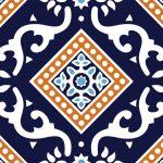 (Hala Ajrak-003 SP) (Blue White) (Finish_ Glossy)