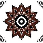 Hala Ajrak-006 (Brown) (Finish (Glossy)